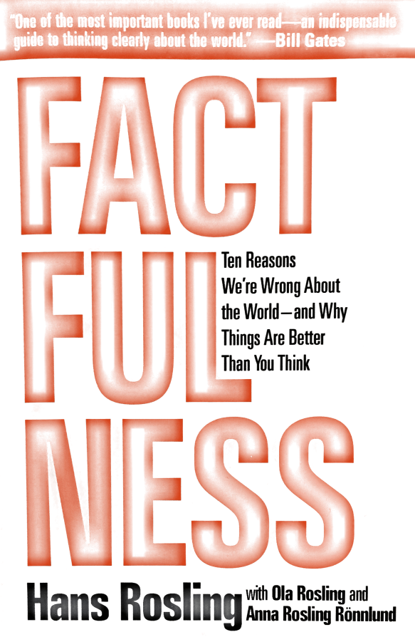 Factfulness by Hans Rosling, with Ola Rosling, and Anna Rosling Ronnlund
